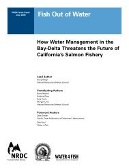 NRDC: Fish Out of Water - How Water Management in the Bay-Delta ...
