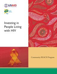 Investing in People Living with HIV: The Community - Pact