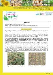 Page 1 / 9 Orge d'hiver, Arturio à Egreville (77) Blé tendre, Accroc à ...