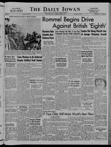 March 7 - The Daily Iowan Historic Newspapers - University of Iowa