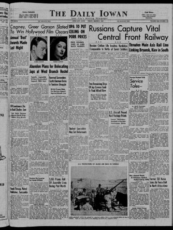 March 5 - The Daily Iowan Historic Newspapers - University of Iowa