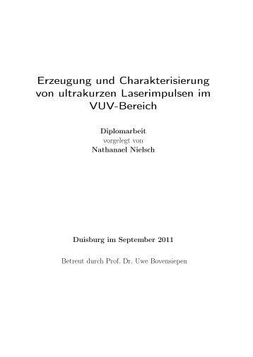 Erzeugung und Charakterisierung von ultrakurzen Laserimpulsen ...