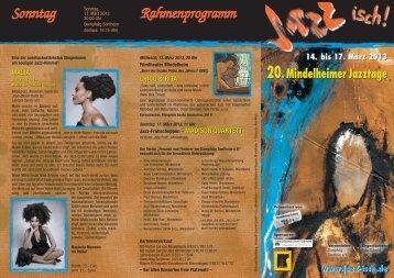 Sonntag Rahmenprogramm - Jazz isch