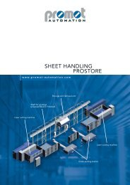 SHEET HANDLING PROSTORE - Promot Automation