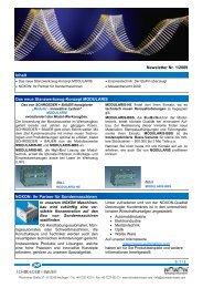 Newsletter Nr. 1/2009 Inhalt Das neue Stanzwerkzeug-Konzept ...