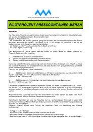 PILOTPROJEKT PRESSCONTAINER MERAN