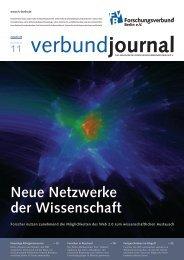 Neue Netzwerke der Wissenschaft - Forschungsverbund Berlin