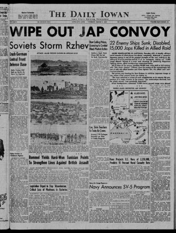 March 4 - The Daily Iowan Historic Newspapers - University of Iowa