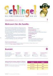 Mediadaten Schlingel-Magazin (Printprodukt)