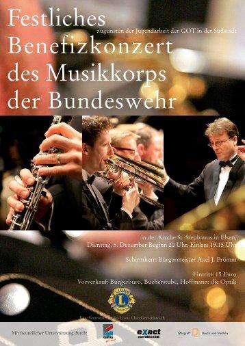 Festliches Benefizkonzert des Musikkorps der ... - Grevenbroich