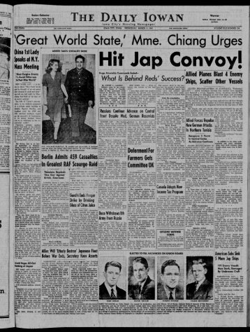 March 3 - The Daily Iowan Historic Newspapers - University of Iowa