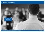 2. WEBLAW FORUM 2012