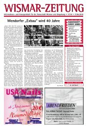 (17. Juni 2010) ansehen (PDF - WISMAR-ZEITUNG