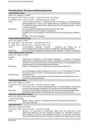 Fachstudium Kommunikationstechnik - TU Berlin