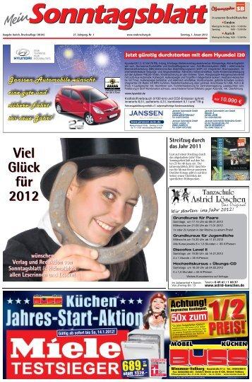 Viel Glück für 2012 Viel Glück für 2012 - E-Paper - Emder Zeitung
