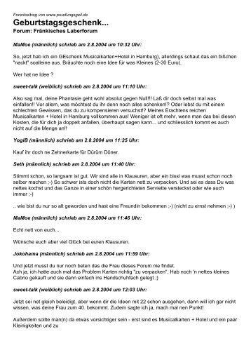 Geburtstagsgeschenk... - Studentenportal pruefungsgeil.de
