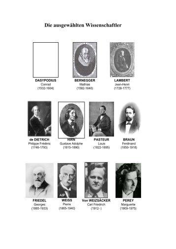 Präsentierte Wissenschaftler