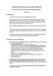 Hinweisblatt zur Erstellung von Bachelorarbeiten