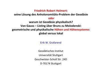 Friedrich Robert Helmert - DVW Berlin-Brandenburg