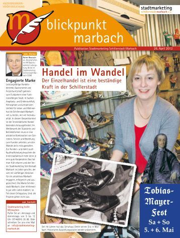 Download des Blickpunkts - Stadtmarketing Schillerstadt Marbach eV