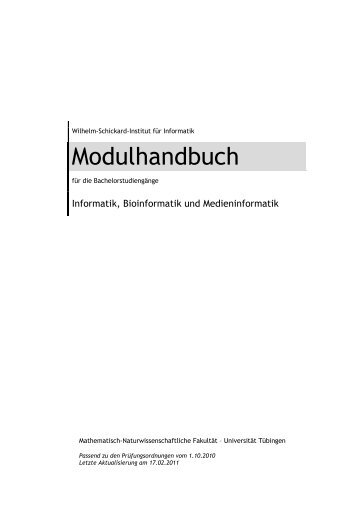 Modulhandbuch - Universität Tübingen