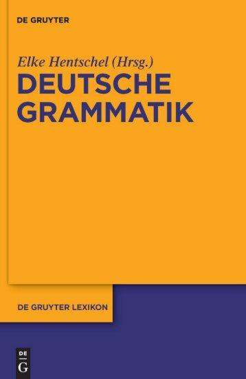Deutsche Grammatik (de Gruyter Lexikon)