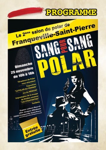 Programme salon du polar 2012 - Franqueville Saint Pierre