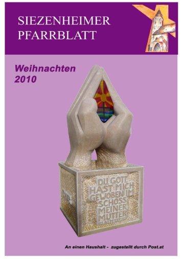 Brief vom Pfarrer - Pfarre Siezenheim