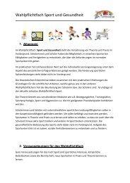 Wahlpflichtfach Sport und Gesundheit - IGS Oppenheim