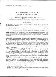 Alcaloïdes des feuilles du Crioceras dipladeniiflorus - IRD