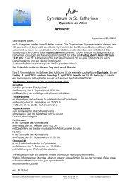 Elternbrief vom März 2011 - Gymnasium zu St. Katharinen Oppenheim