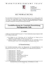 Geschäftsordnung Gemeindeeinsatzleitung - Marktgemeinde Telfs