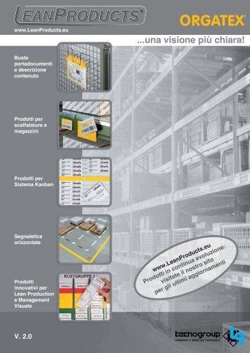 Disponibile nuovo Catalogo V. 2.0 con ampliamento ... - LeanProducts