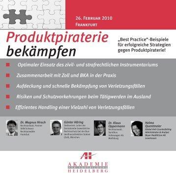 Produktpiraterie bekämpfen - brainGuide
