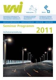 Seminar Programm 2011 - VSVI Niedersachsen eV