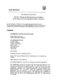 3. Sitzung des Bezirksausschusses Bergheim - Stadt Steinheim