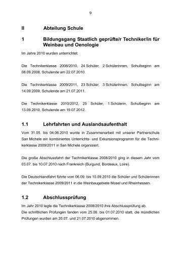 II Abteilung Schule 1 Bildungsgang Staatlich geprüfte/r Techniker/in ...