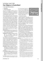Due Diligence in Deutschland - Eine empirische Untersuchung