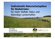 Individuelle Naturschutzpläne für Biobetriebe - für mehr ... - Gäa