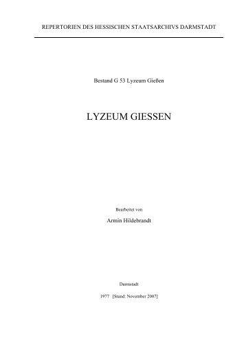 G 53 Lyzeum Gießen - Hessen
