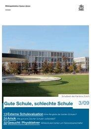 Gute Schule, schlechte Schule 3/09 - Bildungsdirektion - Kanton ...