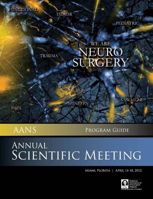 Program Guide American Association of Neurological Surgeons