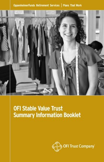 Stable Value Trust Booklet - OppenheimerFunds