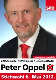 Peter Oppel - Bürgermeisterwahl Bad Lobenstein 2012