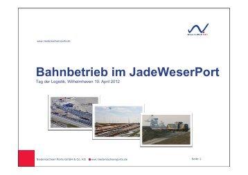 Bahnbetrieb im JadeWeserPort