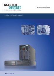 Serie A von 700 bis 3000 VA - Masterguard Chloride Austria