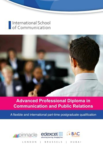 Advanced Professional Diploma in Communication and Public ...