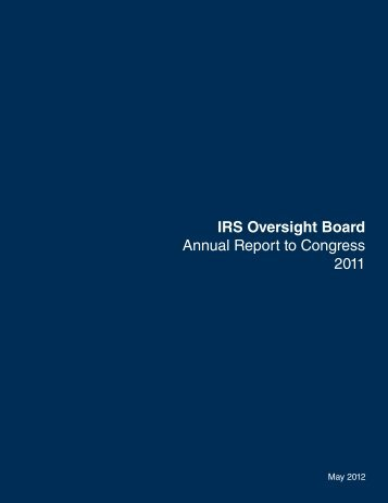 IRS Oversight Board Annual Report to Congress 2011