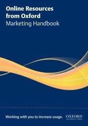 Online Resources from Oxford Marketing Handbook