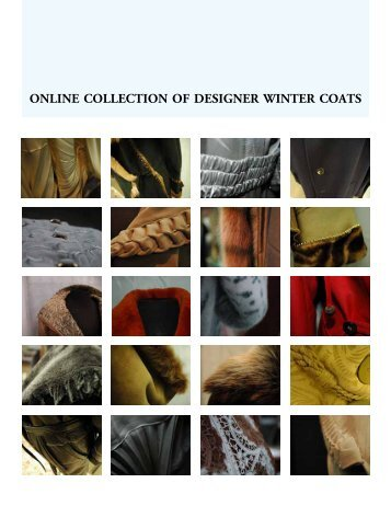 ONLINE COLLECTION OF DESIGNER WINTER COATS